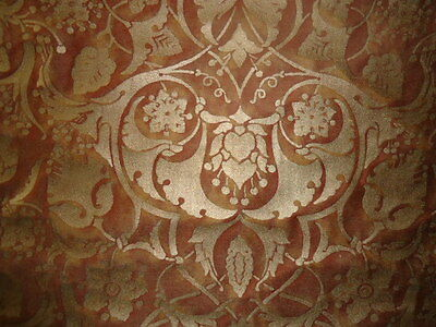 """Fortuny """"Persepolis"""" 5624 Copper & Silvery Gold 2 Yards"""