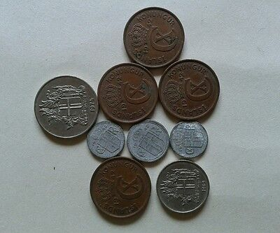 Old coins job lot Iceland