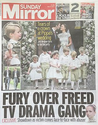 PIPPA MIDDLETON WEDDING - Mirror Newspaper Clippings Cuttings Pages  21 May 2017