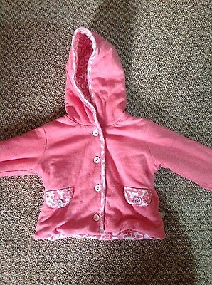 M&S baby girls pink padded jacket age 6-9 months
