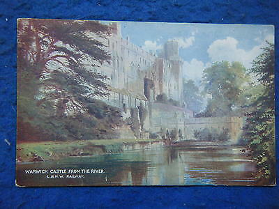 LNWR OFFICIAL w/OVERPRINT (M24) WARWICK CASTLE FROM THE RIVER - SCARCE POSTCARD!