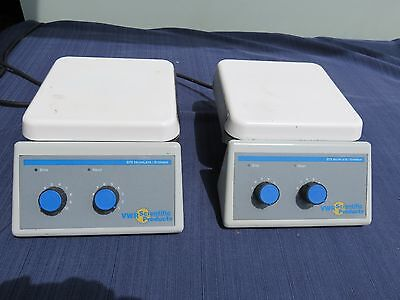 VWR 375 model Hotplate Magnetic Stirrer 7x7 inch top hot plate 2 available