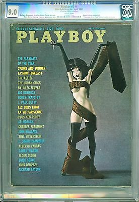 Playboy April 1961 | CGC 9.0 Very Fine/Near Mint | Nancy Nielsen