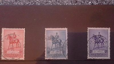 australia stamps 1935, silver jubilee, SG156/158/ used.