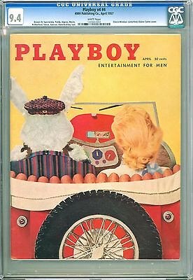 Playboy April 1957 | CGC 9.4 Near Mint | Elaine Conte