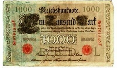 1910 1000 Mark, Germany-Republic Treasury Note