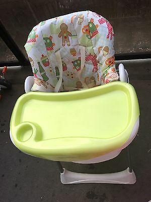 Mamas And Papas Spring Green 3 In 1 High Chair For Feeding With Removable Tray
