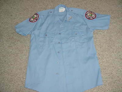 fire & rescue FLORIDA Coral Springs fire department dress shirt medium