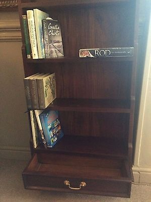 waterfall Bookcase top notch condition, very good red mahogany color 4 shelves