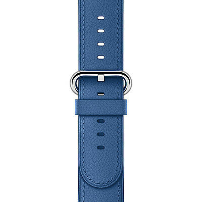 Apple – Classic Buckle for Apple Watch™ 42mm – Sea Blue Leather, MNKW2AM/A