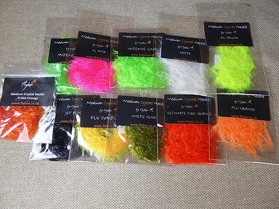 Flybox medium Crystal Hackle (11 packets)