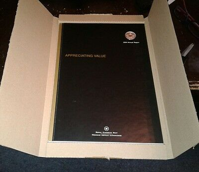 2004 Canada RCM Annual Report With Rare Sterling Silver & Gold 25 Cent Coin