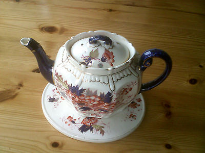 Keeling & Co - Aster - Antique Teapot And Stand- c1890