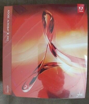 New Sealed Adobe Acrobat X Pro Full Retail Version Windows 65083161