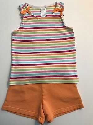 EUC Girls Gymboree size 4t Summer Shirt and Shorts Outfit (lot of 2)