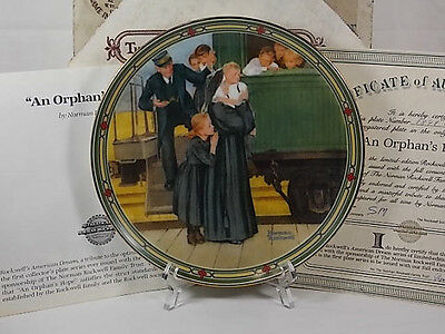 NORMAN ROCKWELL 1987 An Orphan's Hope Knowles Collector Plate COA and Box