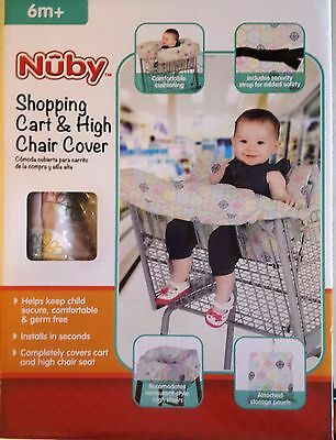 Nuby Shopping Cart and High Chair Cover with Security Adjustable Straps