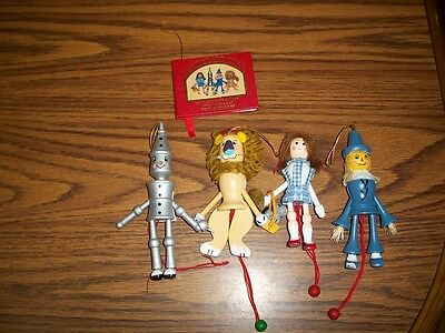 Kurt Adler Wizard Of Oz Ornaments Pull String Jumpers & Book 1982