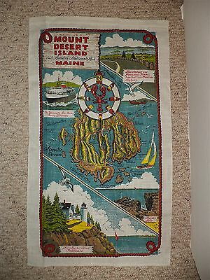 Maine Souvenir Wall Hanging Towel Acadia National Park By Warren Boucher