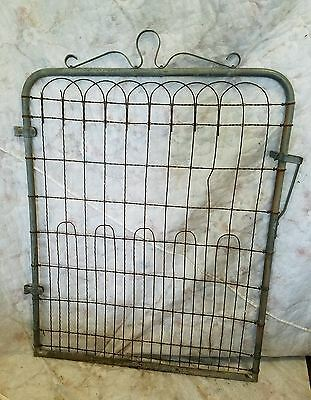 Vintage Architectural Salvage Garden Gate Repurpose Metal Fence Approx 48 X 38""