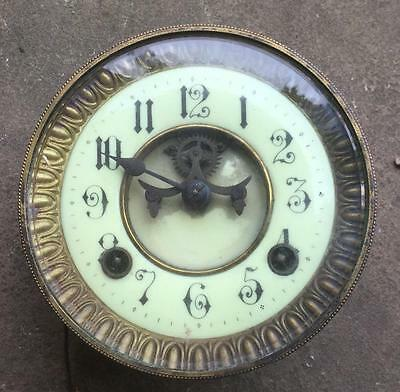Antique French German Open Brocot Type 8 Day  Striking  Clock Movement