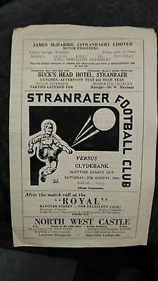 Stranraer v Clydebank - 1966/67 League Cup - First Season of Clydebank