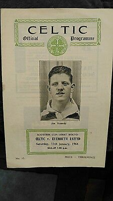 Celtic v Eyemouth United - 1963/4 Scottish Cup Programme