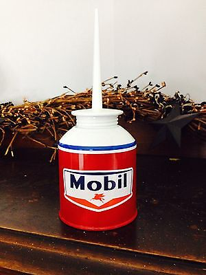 Vintage Oil Can Vintage Mobil Oil Can Vintage Gas Station Vintage Gas Can