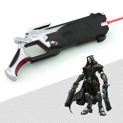 HOT Blizzard Game OVERWATCH Reaper gun with Infrared Ninjia GENJI 14cm black