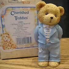 cherished teddies FATHER FIGURINE. BOX +PAPERS fathers day