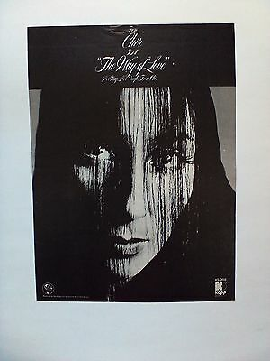 """CHER """"The Way Of Love"""" Original Promo Poster Ad 1972"""
