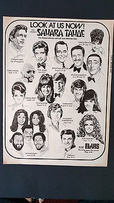JOHNNY CASH, DIANA ROSS, CARPENTERS,ECT. Original Promo Poster Ad 1973