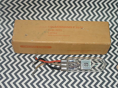 New Carl Zeiss Deuterium Lamp Quarzbrenner H 30 Ds Bulb! Unused! Made In Germany