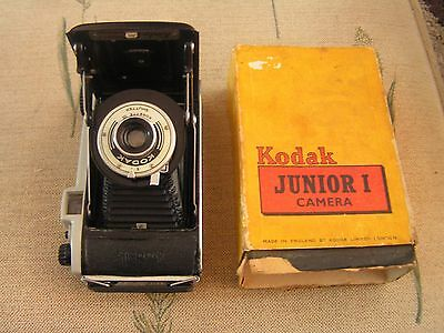 Vintage Kodak Junior 1 Bellows Folding Camera Boxed