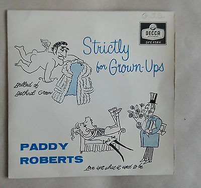 "Paddy Roberts, Strictly for Grown-Ups 7"" EP Decca DFE 6584"