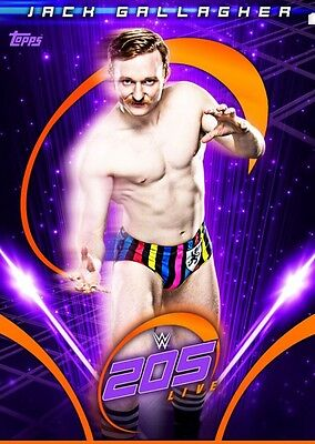 205 LIVE WAVE 2 PURPLE JACK GALLAGHER Topps WWE Slam Digital Card