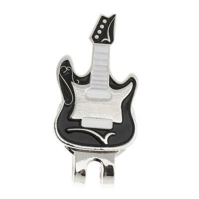 Sturdy Guitar Magnetic Hat Clip Golf Ball Markers Clip On Golf Cap Visor