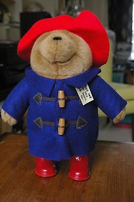"""Paddington Bear with boots on, very soft bear from 2005 with labels 12""""."""