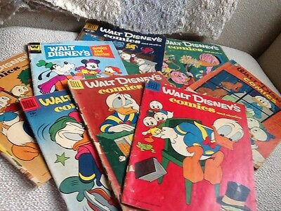 Vintage Eight 1950's Walt Disney's Comics And Stories Collection Dell