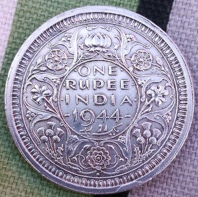 1944 Silver India One Rupee
