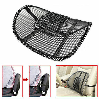 Mesh Lumbar Lower Back Support Cushion Pain Relief Car Seat Posture Corrector G