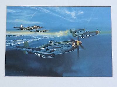 """Robert Bailey P-51 Mustang """"CLASH AT HASSELEUNNE"""" Signed Limited Edition Print"""