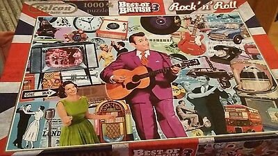 1000 Piece Jigsaw Puzzle. Falcon Deluxe. Best of British 3 Rock n Roll