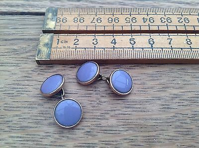 Great Pair Of Early Vintage Cufflinks With Purple Centres