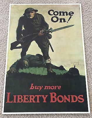 Walter Whitehead WWI Come On! Buy More Liberty Bonds - 1964 Time Reproduction