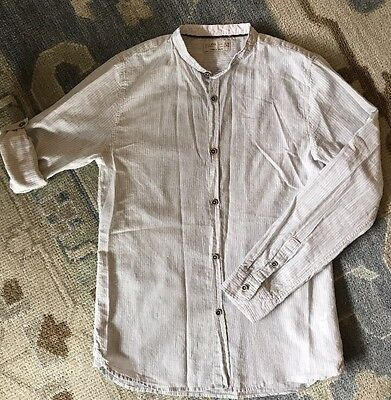 New W/t Tags Zara Boys Gray Striped Shirt, Sz 11-12