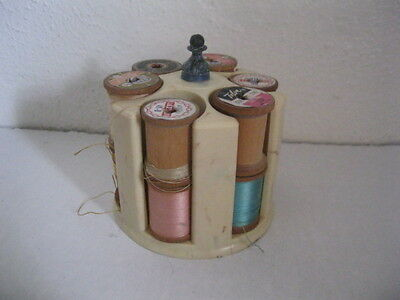 Vintage Bakelite Thread Holder  Tan Sewing - Spools of Thread