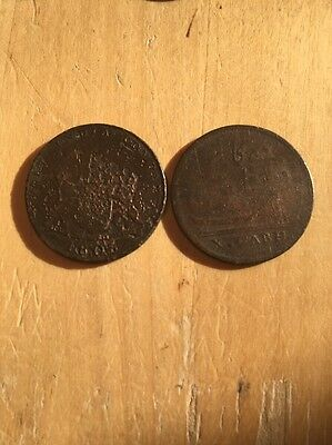 India X Cash Coins 1805 And 1808