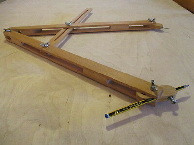 Large drawing compass/ large wooden compass