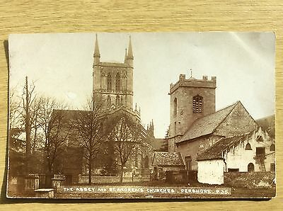 PERSHORE ~ The Abbey and St Andrew's Churches ~ posted 1906 RP